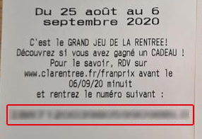 Exemple Ticket Franprix